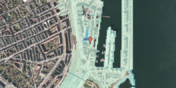 Stomflod og havvand på Amerika Plads 3C, 1. tv, 2100 København Ø