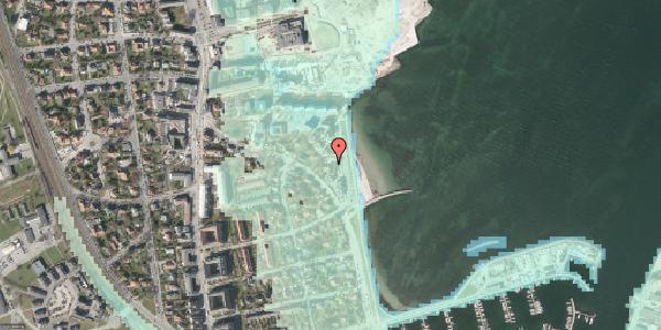 Stomflod og havvand på Strandpromenaden 55, 2100 København Ø