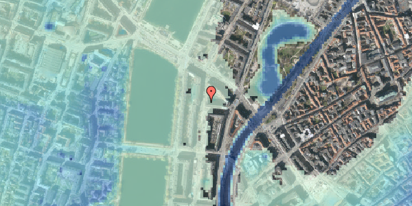 Stomflod og havvand på Nyropsgade 7, 6. , 1602 København V