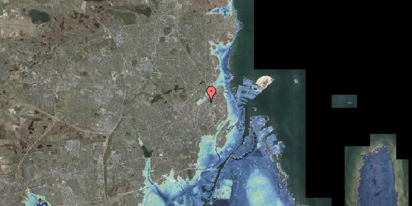 Stomflod og havvand på Emblasgade 127, 2100 København Ø