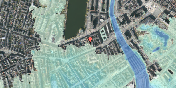 Stomflod og havvand på Sankt Jørgens Allé 5C, 1615 København V