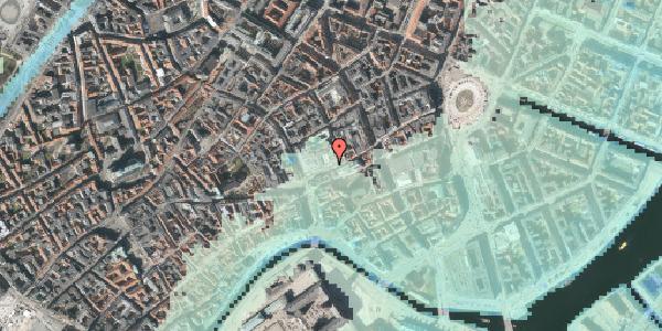 Stomflod og havvand på Østergade 52, 1100 København K