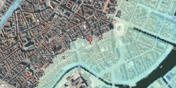 Stomflod og havvand på Østergade 46, 3. , 1100 København K