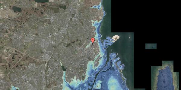 Stomflod og havvand på Rovsingsgade 40, 2100 København Ø