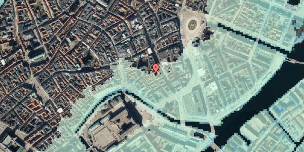 Stomflod og havvand på Nikolajgade 18, 4. , 1068 København K
