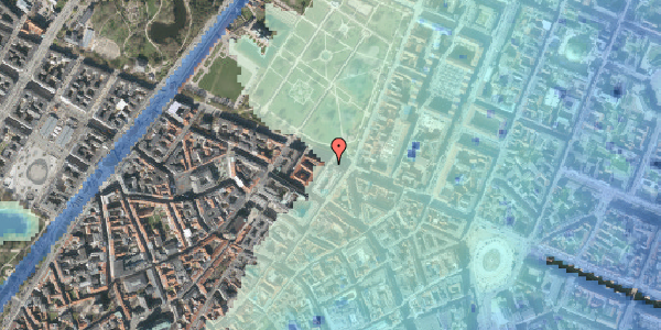 Stomflod og havvand på Sjæleboderne 8, 1122 København K