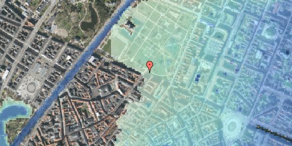 Stomflod og havvand på Gothersgade 76, 1123 København K