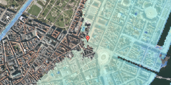 Stomflod og havvand på Gothersgade 21C, st. th, 1123 København K