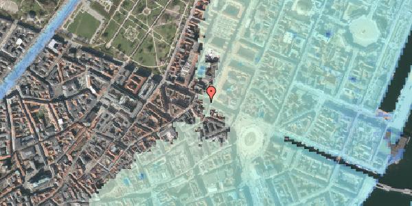 Stomflod og havvand på Gothersgade 21D, kl. , 1123 København K