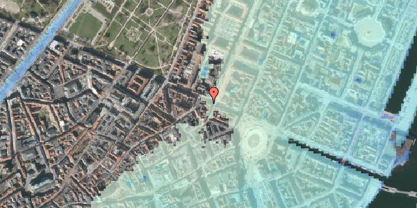 Stomflod og havvand på Gothersgade 21E, kl. , 1123 København K