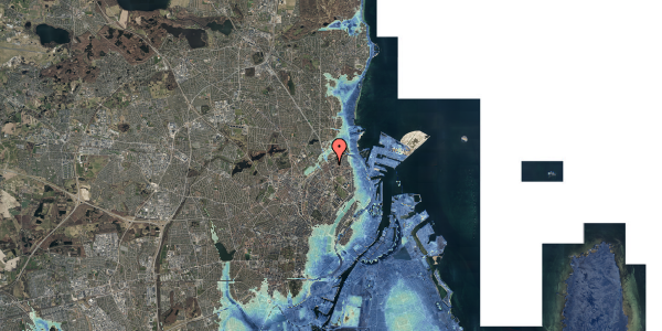 Stomflod og havvand på Venøgade 4, 2. 3, 2100 København Ø