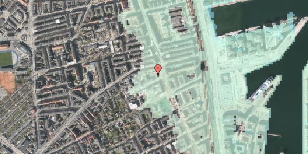 Stomflod og havvand på Strandboulevarden 51, 2100 København Ø