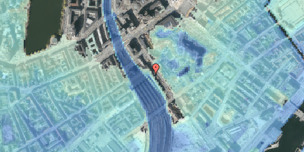 Stomflod og havvand på Bernstorffsgade 16, 2. , 1577 København V