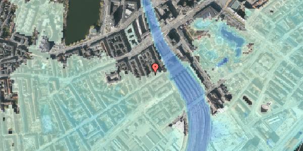 Stomflod og havvand på Istedgade 8, 1. , 1650 København V