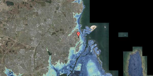 Stomflod og havvand på Øster Allé 41, 2100 København Ø