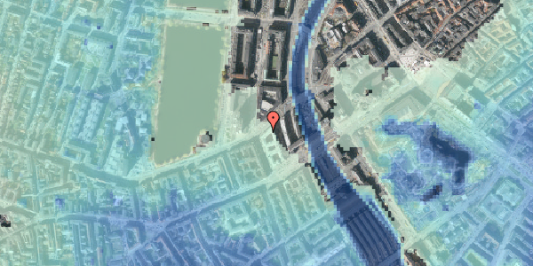 Stomflod og havvand på Ved Vesterport 9, 1612 København V