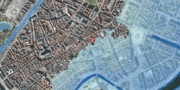 Stomflod og havvand på Købmagergade 24, 1150 København K