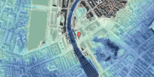 Stomflod og havvand på Hammerichsgade 1, 17. , 1611 København V