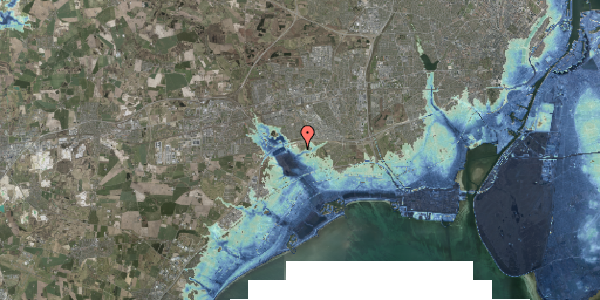 Stomflod og havvand på Kirkebakke Alle 11, 2625 Vallensbæk