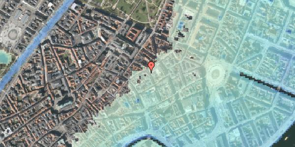 Stomflod og havvand på Pilestræde 35B, 1. tv, 1112 København K