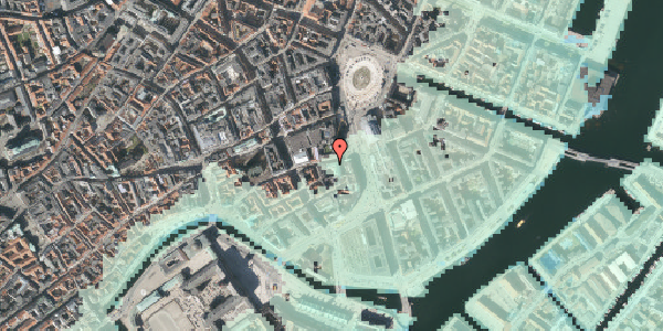 Stomflod og havvand på Vingårdstræde 3, 2. , 1070 København K
