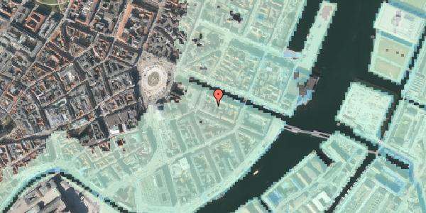 Stomflod og havvand på Nyhavn 12D, 1. mf, 1051 København K