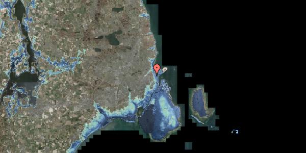 Stomflod og havvand på Østerfælled Torv 8, 2100 København Ø