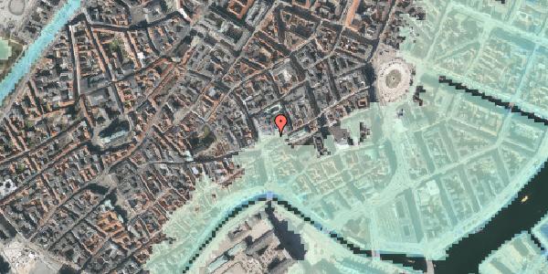 Stomflod og havvand på Østergade 56, 1100 København K