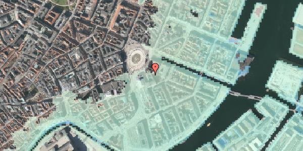 Stomflod og havvand på August Bournonvilles Passage 1B, 1055 København K