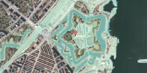 Stomflod og havvand på Kastellet 50, 2100 København Ø
