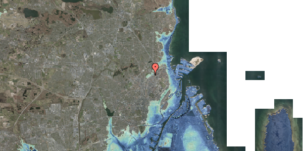 Stomflod og havvand på Rovsingsgade 62B, 2100 København Ø