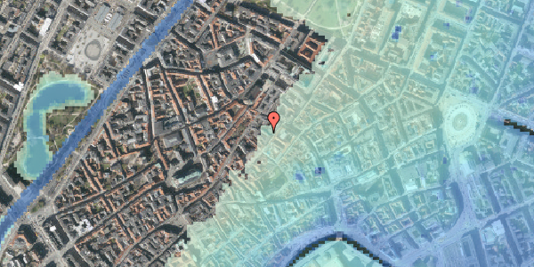 Stomflod og havvand på Løvstræde 8A, 2. , 1152 København K