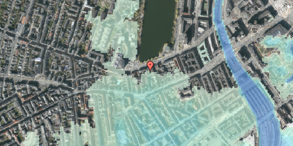 Stomflod og havvand på Gammel Kongevej 23B, kl. , 1610 København V