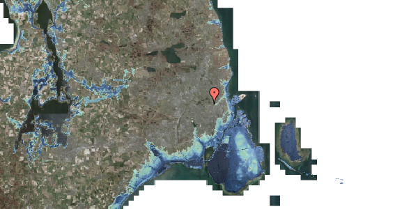 Stomflod og havvand på Dortheavej 42A, 2400 København NV
