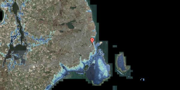 Stomflod og havvand på Fruebjergvej 3, 2100 København Ø