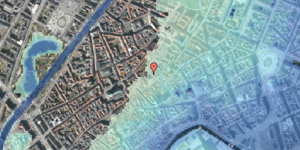 Stomflod og havvand på Niels Hemmingsens Gade 19, 1153 København K