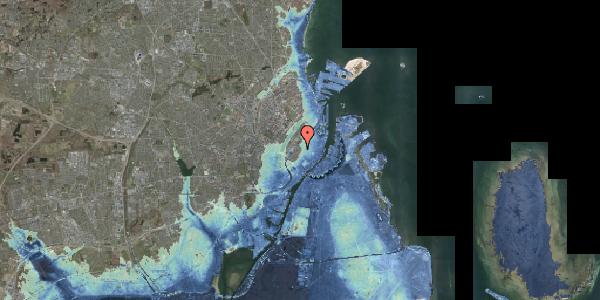 Stomflod og havvand på Hauser Plads 1, 1127 København K