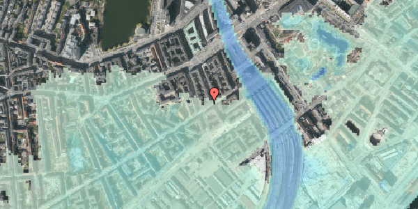 Stomflod og havvand på Istedgade 12, 1. , 1650 København V