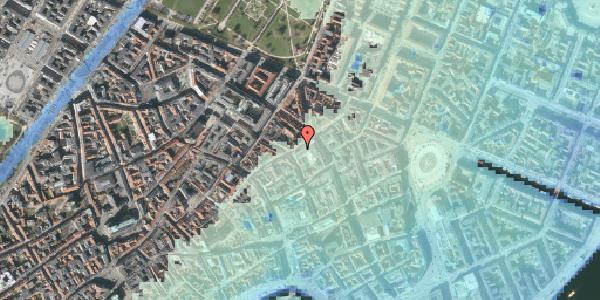 Stomflod og havvand på Sværtegade 2, 1118 København K
