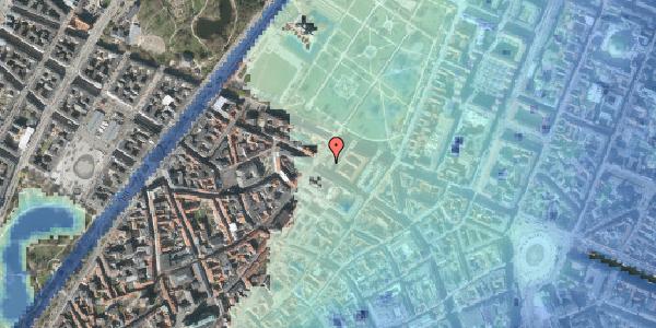 Stomflod og havvand på Vognmagergade 10, 1120 København K