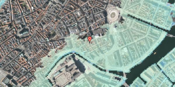 Stomflod og havvand på Nikolaj Plads 25A, 1067 København K