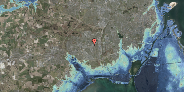 Stomflod og havvand på Banegårdspladsen 9, 2600 Glostrup