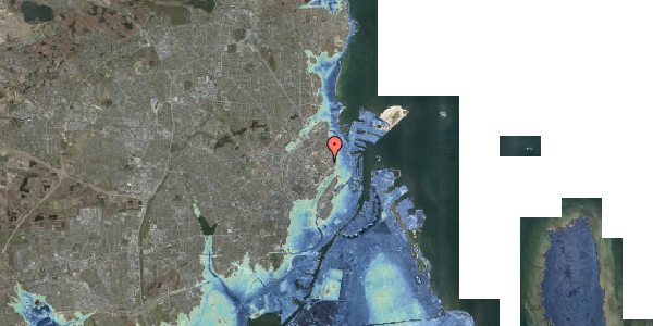 Stomflod og havvand på Øster Allé 42, 2100 København Ø