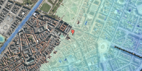 Stomflod og havvand på Gammel Mønt 12, 3. , 1117 København K