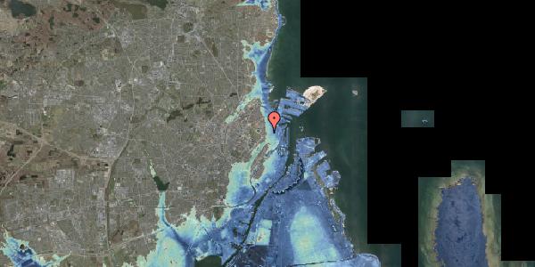 Stomflod og havvand på Nordre Frihavnsgade 26A, kl. 15, 2100 København Ø