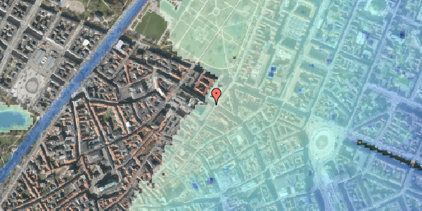 Stomflod og havvand på Vognmagergade 5, 3. , 1120 København K