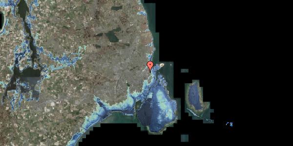 Stomflod og havvand på Jagtvej 160, 2100 København Ø