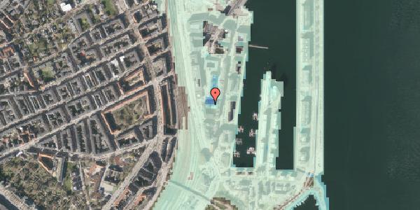 Stomflod og havvand på Amerika Plads 5, 2100 København Ø