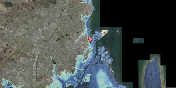 Stomflod og havvand på Sankt Jakobs Plads 8, 2100 København Ø