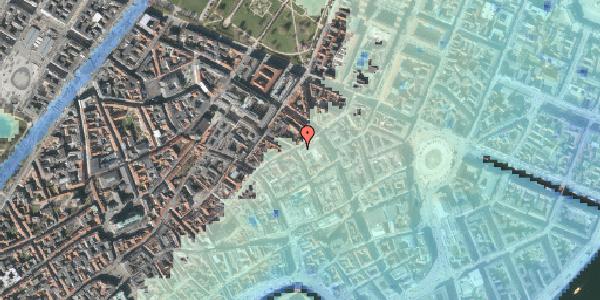 Stomflod og havvand på Pilestræde 36, 1112 København K
